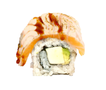 Foto Flamed Salmon Shell uramaki